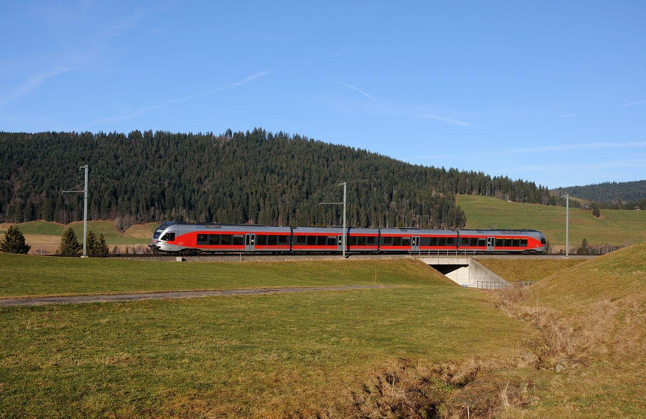In der Rothenthurmer Moorlandschaft konnte bei Altmatt ein Flirt-Triebzug der Baureihe RABe526 als S31 aufgenommen werden. Die S31 pendelt mit 2 Einheiten zwischen Biberbrugg und Arth-Goldau, wo man Anschlüsse an die Züge der SBB hat.
