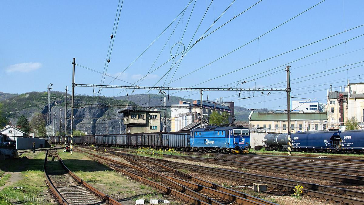 Notschuss auf 363 072 im Bahnhof Ústí n.L.-Střekov