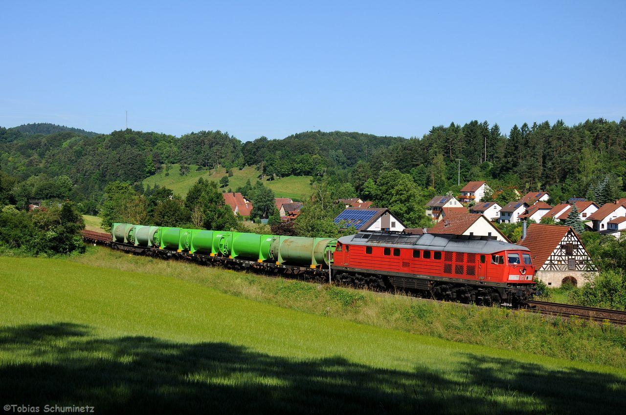 """Der """"Schwandorfer"""" EK56900 wurde mit 233 510 bei Lehendorf abgelichtet."""