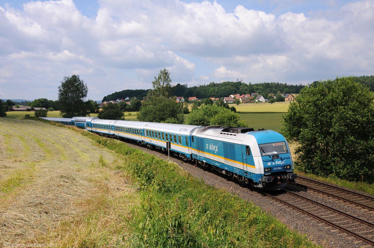 Bei Escheldorf wurde 223 064 mit dem ALX84104 umgesetzt.