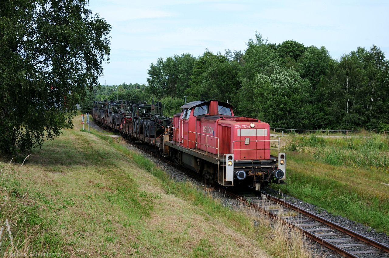 Kurz vor Grafenwöhr könnte der Zug nochmals abgewartet werden. Leider zug es jetzt immer stärker zu.