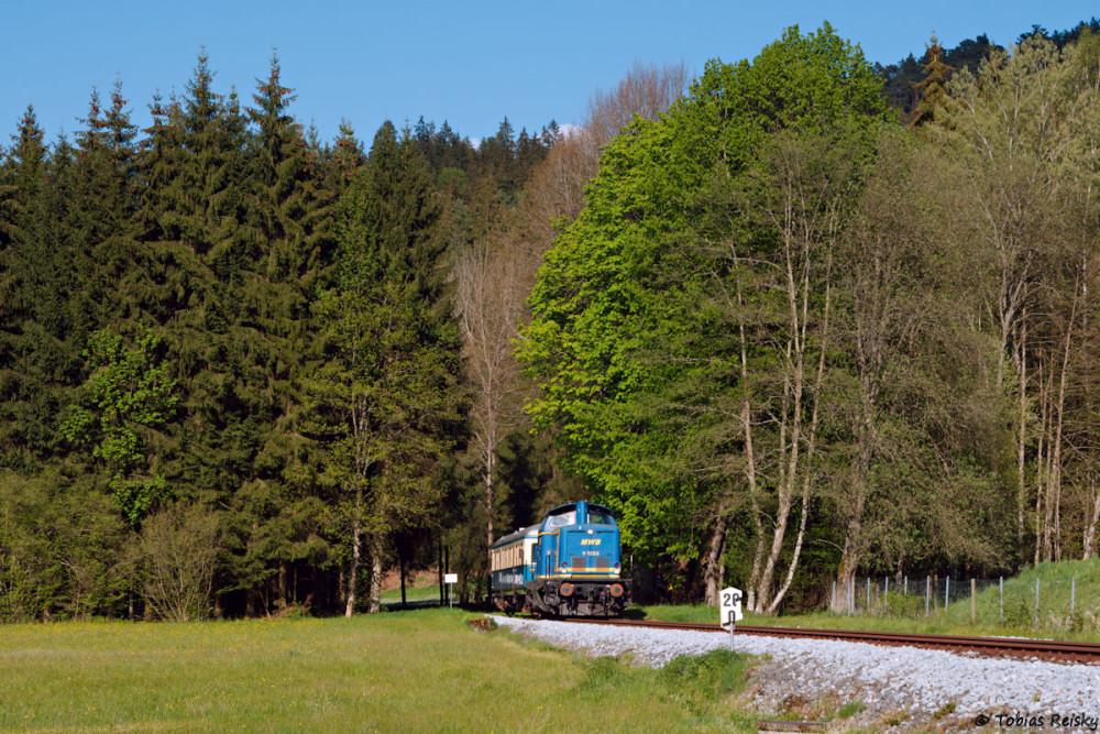 In Gstadt war der Zug wieder eingeholt.
