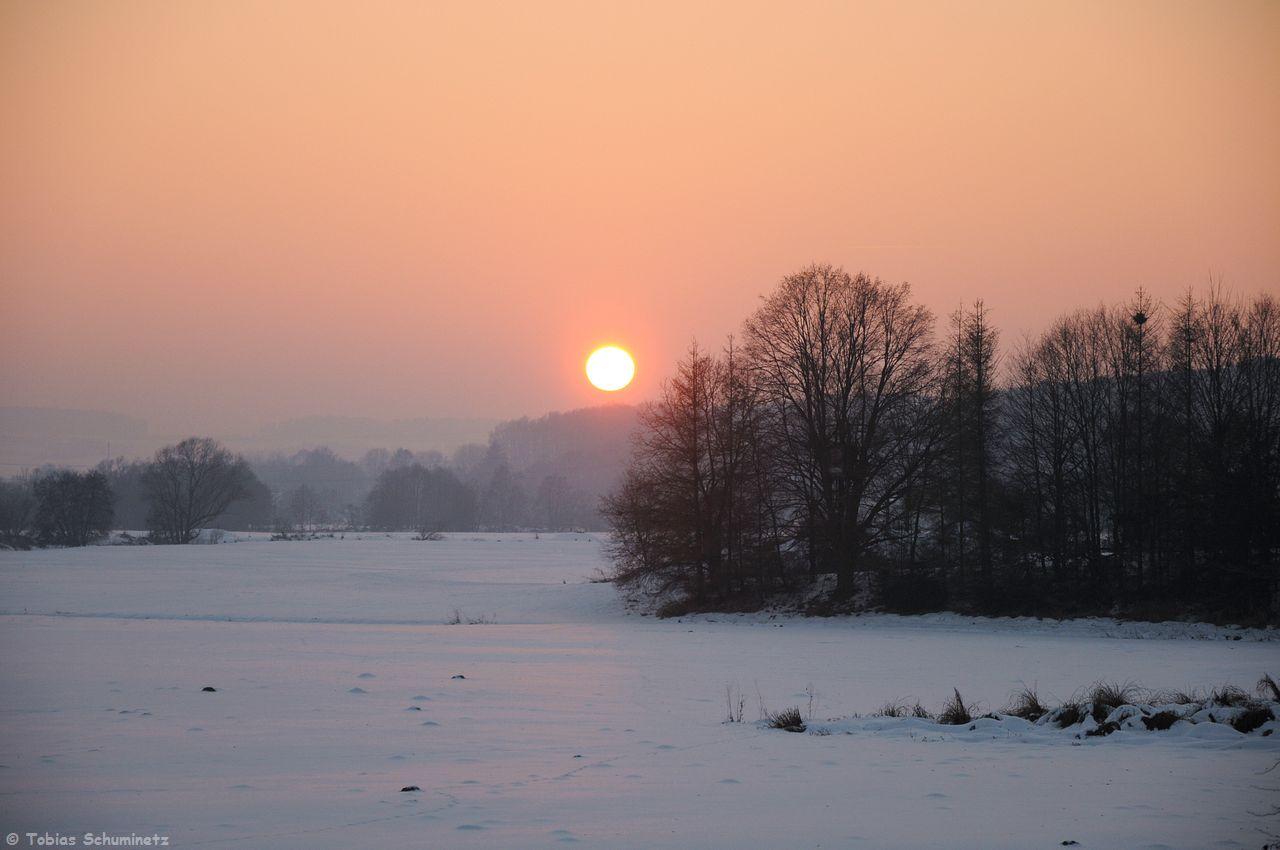 Dafür gab es noch eine schöne Sonnenuntergangsstimmung bei Pösing.