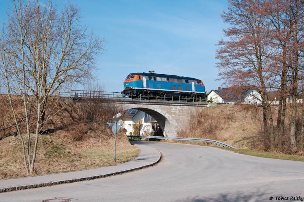 Lz fuhr die Lok dann zurück Richtung Ingolstadt.