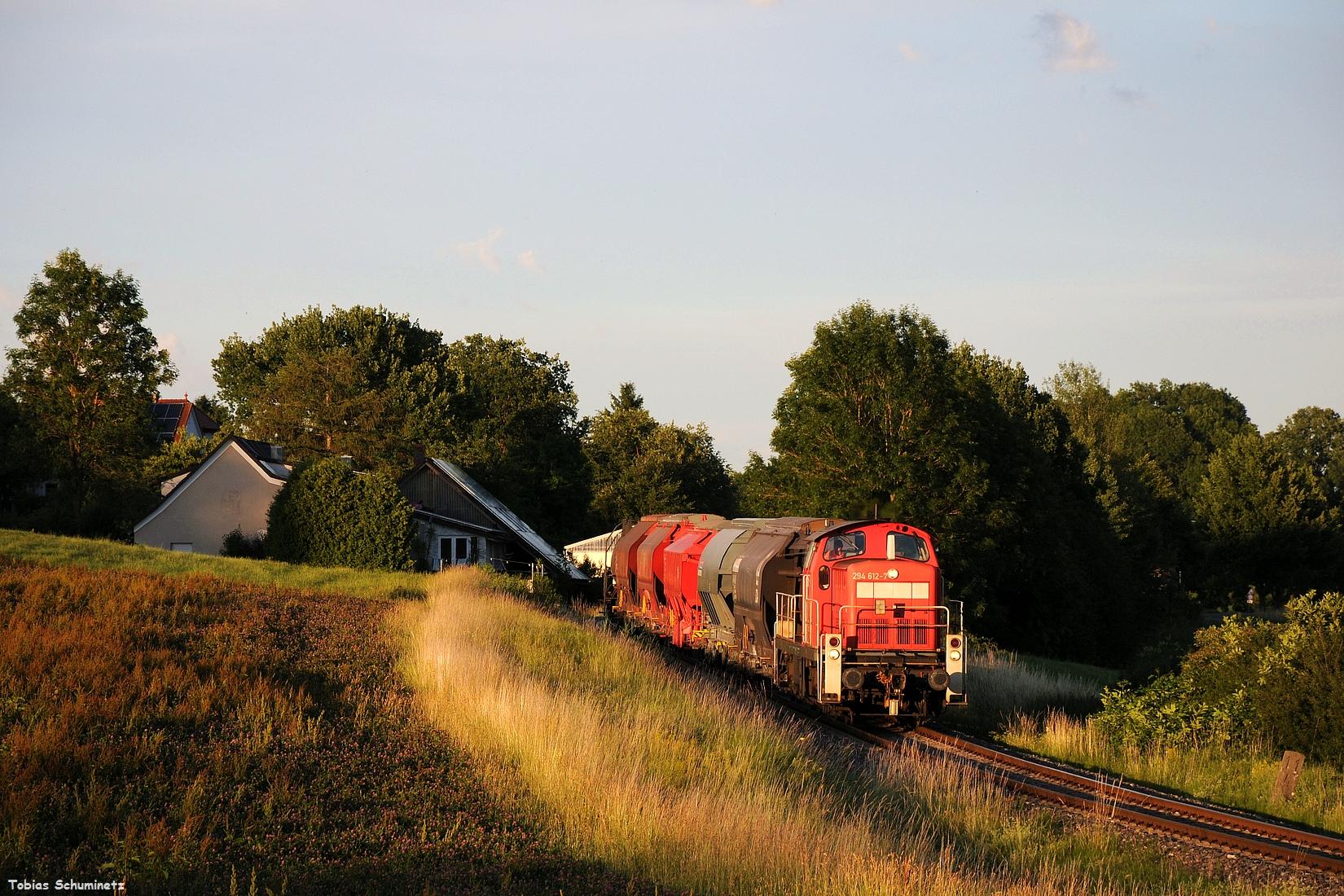 Vom 30.06.2017 zeige ich euch nur das Bild aus Gebenbach. Diesmal war 294 612 eingeteilt den Zug nach Schwandorf zu befördern.