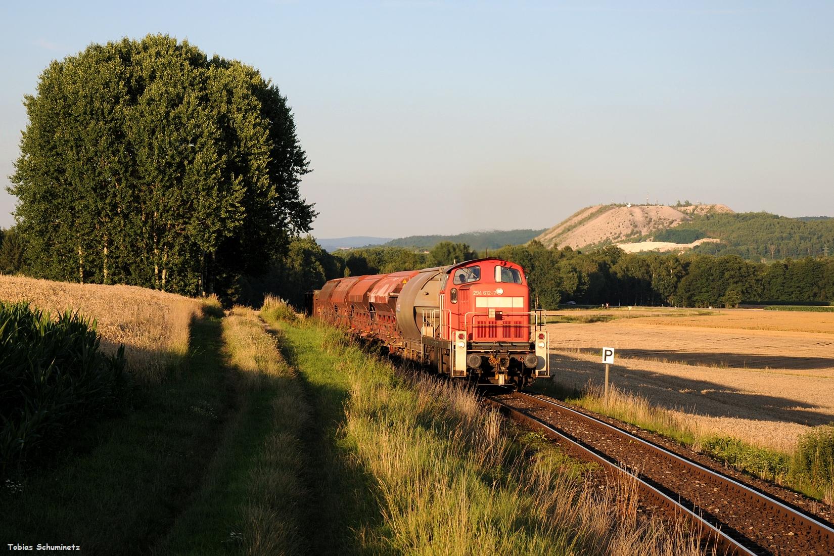Das Hauptmotiv sah dann genau so aus, wie ich es mir vorgestellt habe! Links die Bäume, rechts den Monte Kaolino und in der Mitte den Zug. Für heuer mein Lieblingsbild der Abendübergabe.