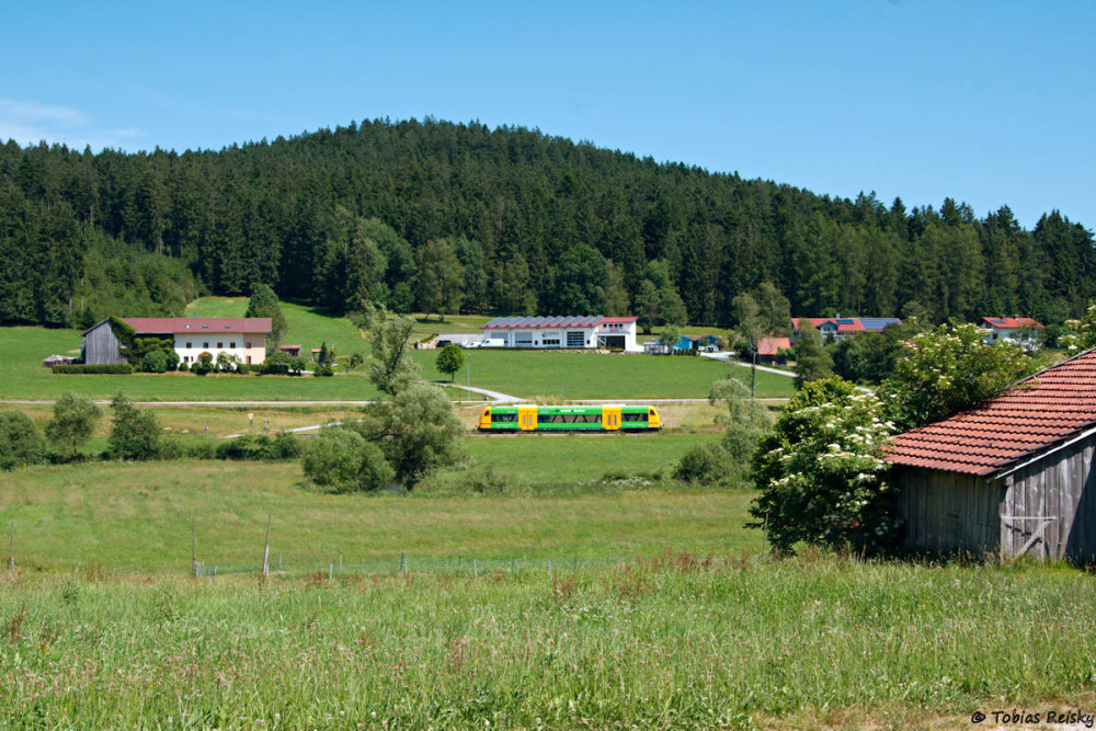 Die Rückfahrt wurde dann zwischen dem Bahnhof Ruhmannsfelden und dem Schotterwerk Prünst abgepaßt.