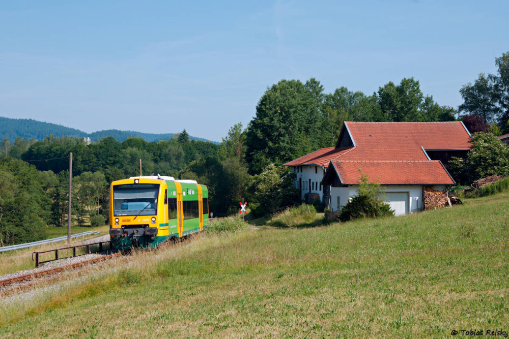 Die nächste Leistung Richtung Gotteszell ein paar Kurven weiter bei Ochsenberg.