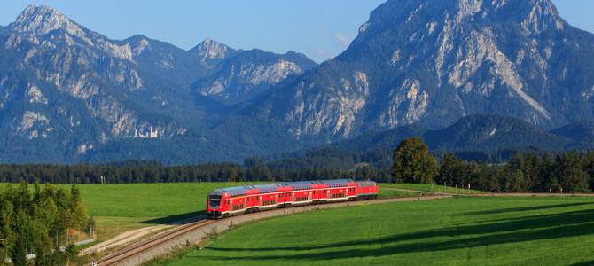 Nebenbahn mit Bergblick: Die Strecke nach Füssen